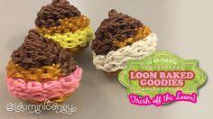 Loom Cream Puffs: 3D Rainbow Loom Baked Goodies