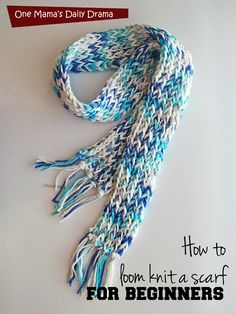 Loom Knit Scarf Tutorial 2019 How to loom knit a scarf for beginners: easy DiY tutorial Loom Scarf, Loom Knitting Stitches, Knifty Knitter, Circular Knitting Needles, Knitting Kits, Knitting Machine, Knitting Ideas, Free Knitting, Loom Knitting For Beginners