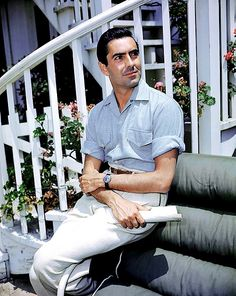 He wasn't full of himself, but I've never seen anyone as handsome as Tyrone Power. Old Hollywood Movies, Old Hollywood Stars, Golden Age Of Hollywood, Vintage Hollywood, Hollywood Glamour, Classic Hollywood, Hollywood Men, Tyrone Power, Anita Ekberg