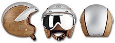 The most unique Snowboard Helmet -bamboo & metal