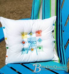 Make a no-sew faux quilted pillow!  Find out how in the #summer issue of Bella Crafts Quarterly. Bella Crafts is ALWAYS free to view online or download and contains oodles of awesome #crafts as well as articles to help support craft businesses. Click here to get your free issue.... http://bellacraftsquarterly.com/current-issue   Visit our website http://bellacraftsquarterly.com/ to see all of our archived issues. #summercrafts  #beachcrafts #handmade #diy #quilting