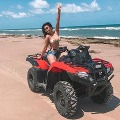 Image may contain: 1 person, ocean, sky, outdoor and nature Hummer, Vacation Mood, Vacation Outfits, Summertime Madness, Shotting Photo, Crazy Women, Atv Riding, Beach Poses, Luxe Life