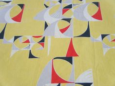 Vintage 1950s Marian Mahler Sails curtain fabric for David Whitehead I REALLY WANT THESE !!!