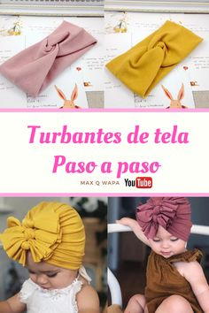 Diy Baby Headbands, Diy Hair Bows, Diy Headband, Diy Bow, Turban Headband Tutorial, Baby Bows, How To Make Turban, How To Make Bows, Baby Turban