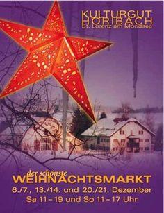 Adventmarkt am Kulturgut Höribach in Mondsee Partys, Christmas Ornaments, Holiday Decor, Handmade Gifts, Handmade, Xmas Ornaments, Christmas Jewelry, Christmas Baubles