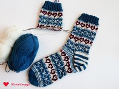 Instructions: knit Norwegian socks with heart pattern - Socken stricken - Knitting Ideas Loom Knitting For Beginners, Knitting For Kids, Knitting Socks, Baby Knitting, Free Knitting, Knitting Patterns Free, Crochet Patterns, Knitting Ideas, Knitting Quotes