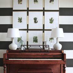 Black and White | Stripe Pattern | Classic Design | Interior Decor