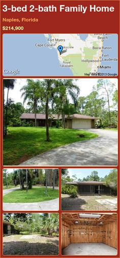 3-bed 2-bath Family Home in Naples, Florida ►$214,900 #PropertyForSale #RealEstate #Florida http://florida-magic.com/properties/15813-family-home-for-sale-in-naples-florida-with-3-bedroom-2-bathroom