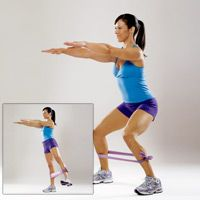 This Banded Shuffle move will make your normal squats even more effective!