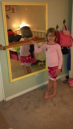 Ballet Bar & mirror, prrfect for Delilah's room!
