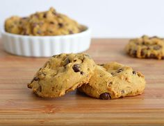 Pumpkin Chocolate Chip Cookies http://theveglife.com/pumpkin-chocolate-chip-cookies-vegan/