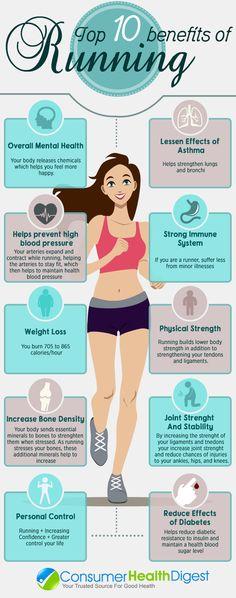 Los 10 principales beneficios de correr. #running