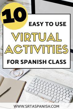 Virtual Class Meeting Games for Language Learners - SRTA Spanish Spanish Teaching Resources, Spanish Activities, Spanish Games, Listening Activities, Spelling Activities, Spanish 1, Teacher Resources, Middle School Spanish, Elementary Spanish