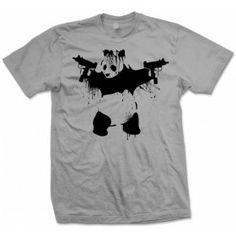 UZI PANDA - Explicit Shirt Store - https://explicitshirtstore.com/banksy-panda-with-uzis-t-shirt