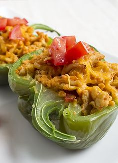 Skinny Taco Stuffed Peppers