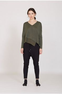 precinct top / khaki by Moochi. Everyday luxury, from off-duty essentials to coveted designer pieces. Buy Now! Classic Chic, Off Duty, Everyday Outfits, Fitness Models, Chiffon, Normcore, Sleeves, How To Wear, Stuff To Buy