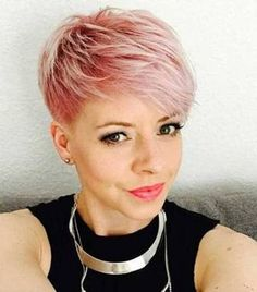 Image result for rose gold short hair