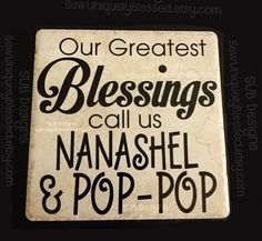 12-inch Keepsake Tile blessed blessings grandma grandchildren mother's mothers day gift idea easter Nana mom mother father dad by SUBdesigns