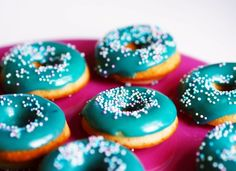 Home made doughnuts (oven cooked), recipe in Finnish Sweets Recipes, Desserts, Oven Cooking, Doughnuts, Baked Goods, Cheesecake, Homemade, Vegan, Cookies