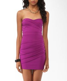 Pintucked Bodycon Tube Dress (Purple). Forever 21. $19.80