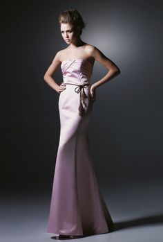Sheath Strapless Pleated Bustline Satin Evening Dress-soe0004, $172.95