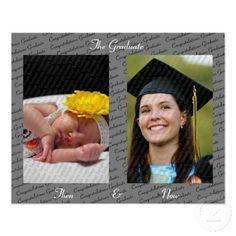 Then & Now Graduation Print