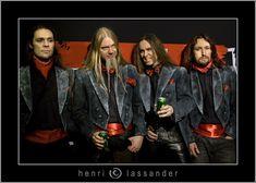 Norther Kings, Finnish metal. Juha-pekka Leppäluoto, Marco Heitala, Jarko Ahola and Tony Kakko.