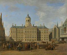 Het stadhuis op de Dam te Amsterdam., Gerrit Adriaensz. Berckheyde, 1693