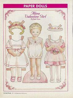 Alina Valentine Girl Paper Doll  By Yuko Green