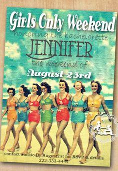 Retro Beach Invitation
