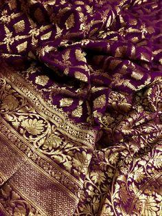 Silk Saree Banarasi, Indian Silk Sarees, Indian Lehenga, Red Saree Wedding, Bengali Saree, Purple Saree, Indian Bridal Fashion, Saree Trends, Beautiful Saree