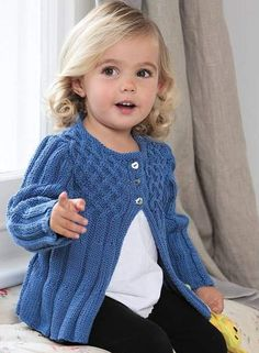 Cute kid's cardigans in Patons Play Day Book 4 - available at LoveKnitting