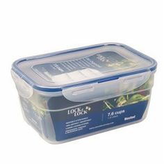 """Heritage Mint Ltd HPL322E """"Lock & Lock"""" Plastic Food Storage Container - 7.6 Cups by LockandLock. $5.69. Product in Inches (L x W x H): 8.25 x 5.75 x 3.75.. Materials: Polypropylene.. Capacity: 7.6 cups / 1.8L.. Airtight & Watertight.. Odor Proof, Stain Resistant.. """"LOCK & LOCK"""" PLASTIC FOOD STORAGE CONTAINER :  *7.6 cup *Rectangle *Medium nestable and stackable *100% airtight/watertight *4 hinge locking system"""