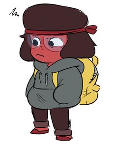 Ruby from Steven Universe and Chloe from We Bare Bears have the same voice actor, so this is a  cool combo