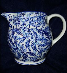 Emma Bridgewater Studio Special Blue Leaves 1.5 Pint Jug for Collectors Day 2011