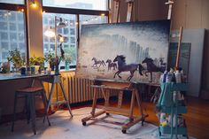 in the studio, late summer