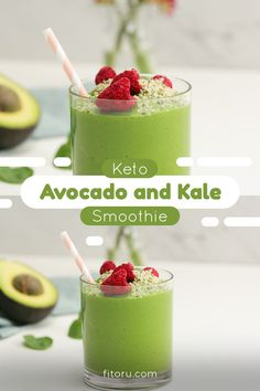 Shake the fat fast with our Keto Avocado-Kale Fat Burner smoothie, loaded with powerful, lean-friendly ingredients 🥑⁣⁣ Kale Smoothie Recipes, Avocado Smoothie, Easy Smoothies, Fruit Smoothies, Drink Recipes, Keto Avocado, Avocado Recipes, Power Smoothie, Smoothie Prep