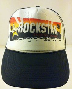 40fd4ed4ca9 Rockstar Energy Drink Hollywood Trucker Mesh Snapback Hat