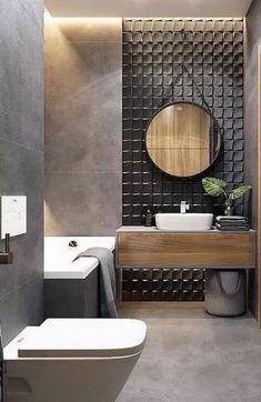 latest stylish bathroom Decoration and Design trends for 2019 Part ; Bathroom Decor Sets, Bathroom Styling, Modern Bathroom, Small Bathroom, Bathroom Organization, Bathroom Mirrors, 1930s Bathroom Wallpaper, Bathroom Storage, Boho Bathroom