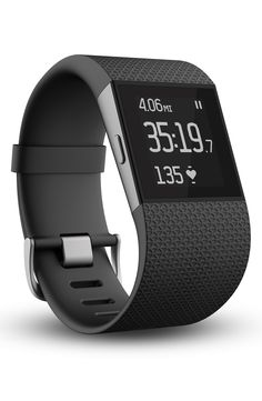 A sleek, sporty Fitbit watch to motivate fitness goals by calculating GPS distance, calories burned, elevation climbed and steps taken throughout the day and features a low-profile touchscreen display that indicate real-time progress.