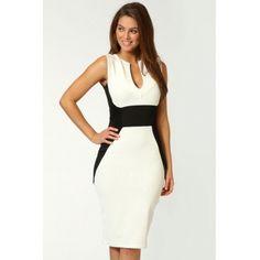 USD12.99Sexy U Neck Tank Sleeveless White Cotton Sheath Knee Length Dress