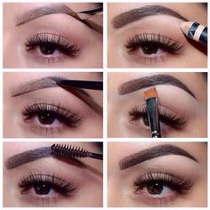 Brow Routine by @makeup_by_jackie 💖 products used below and they are available at Sephora, ULTA, Nordstrom or my site Anastasia.net 😀  1⃣Brow Wiz in Brunette to outline the top and bottom of her brows  2⃣Brow Powder in brunette to fill in the brow; using powder leaves the brow looking more natural ✨Brow Wiz is perfect to cover up any holes and sparse sections. 3⃣ Tinted Brow Gel to blend the colors and set the shape 4⃣ Duality highlighter using the matte side to clean up under the brow…