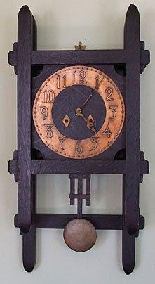 Arts & Crafts wall clock