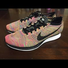 e8fa14738308 Brand New Nike Flyknit Racer Multicolor 3.0  9.5 Brand New with Box and  receipt size