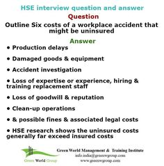 HSE Interview Questions And Answers Http://greenworldgroup15.weebly.com/home