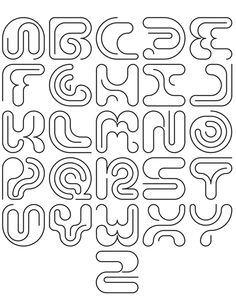 Graffiti Lettering Fonts, Hand Lettering Alphabet, Typography Quotes, Typography Letters, Lettering Design, Graphic Design Letters, Alphabet Design, Lettering Tutorial, Typographic Design