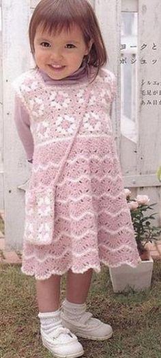 Tie dress for girls crochet