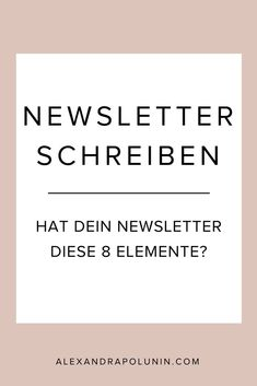 8 Elemente, die dein Newsletter haben sollte — Alexandra Polunin - Expolore the best and the special ideas about Content marketing E-mail Marketing, Content Marketing Tools, Social Media Marketing, Marketing Training, E Mail Template, Newsletter Template, Newsletter Design, Application Utile, Business Inspiration