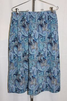 Blair Blue Paisley Patterned Skirt Womens Size Large | Clothing, Shoes & Accessories, Women's Clothing, Skirts | eBay!