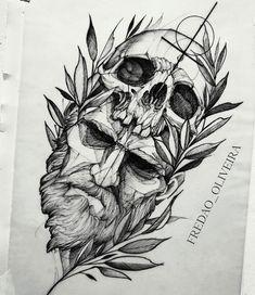 tattoo drawings for men / tattoo drawings Sketch Tattoo Design, Tattoo Sketches, Tattoo Drawings, Tattoo Designs, Tattoo Art, Skull Tattoos, Body Art Tattoos, Sleeve Tattoos, Cool Tattoos